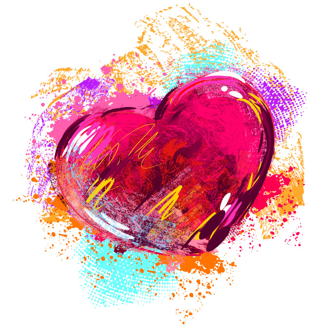 kolorowe serce grafika